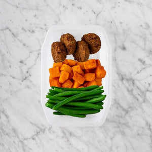 100g Baked Falafel 250g Rosemary Baked Sweet Potato 100g Green Beans