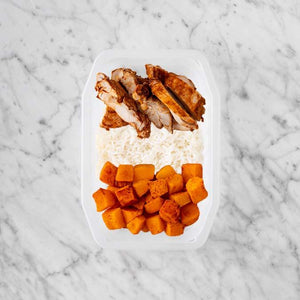 100g Chipotle Chicken Thigh 150g Basmati Rice 100g Rosemary Baked Sweet Potato