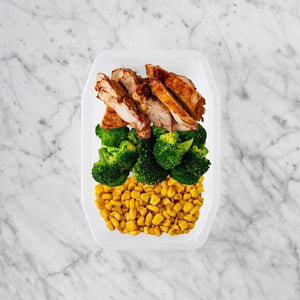 100g Chipotle Chicken Thigh 150g Broccoli 50g Corn