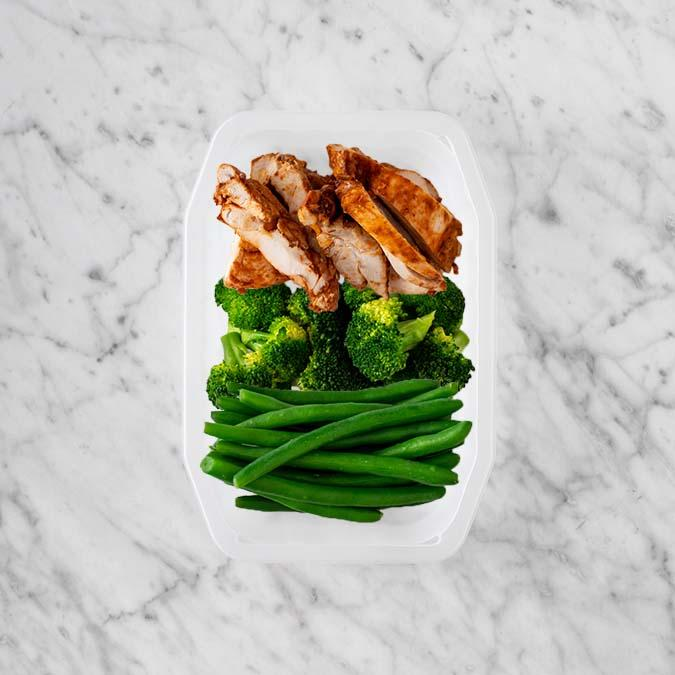 100g Chipotle Chicken Thigh 100g Broccoli 100g Green Beans