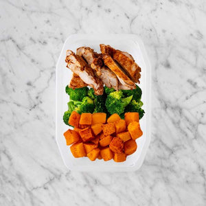 100g Chipotle Chicken Thigh 150g Broccoli 50g Rosemary Baked Sweet Potato