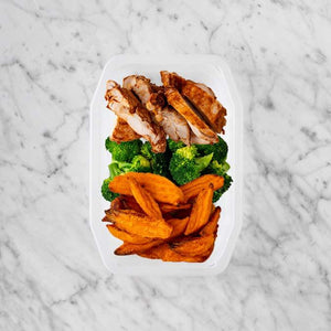 100g Chipotle Chicken Thigh 100g Broccoli 200g Sweet Potato Fries