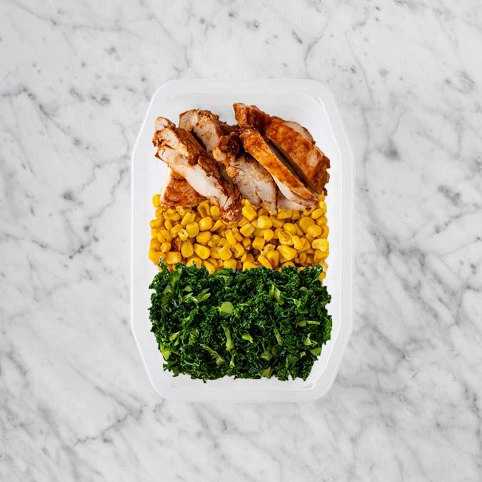100g Chipotle Chicken Thigh 100g Corn 150g Kale