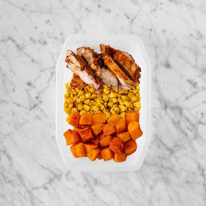 150g Chipotle Chicken Thigh 150g Corn 100g Rosemary Baked Sweet Potato