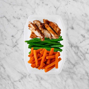 100g Chipotle Chicken Thigh 100g Green Beans 50g Honey Baked Carrots