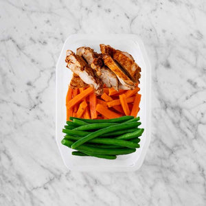 100g Chipotle Chicken Thigh 100g Honey Baked Carrots 200g Green Beans