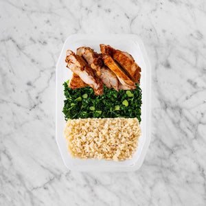 100g Chipotle Chicken Thigh 100g Kale 200g Brown Rice