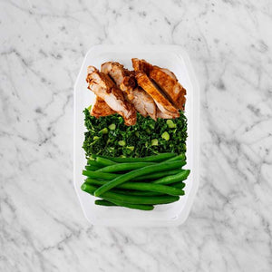 100g Chipotle Chicken Thigh 100g Kale 150g Green Beans