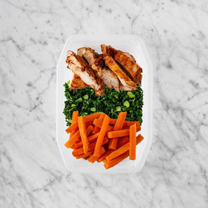 100g Chipotle Chicken Thigh 100g Kale 50g Honey Baked Carrots