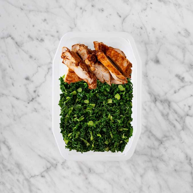 100g Chipotle Chicken Thigh 100g Kale 250g Kale