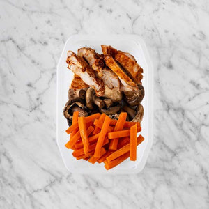 150g Chipotle Chicken Thigh 150g Mushrooms 250g Honey Baked Carrots