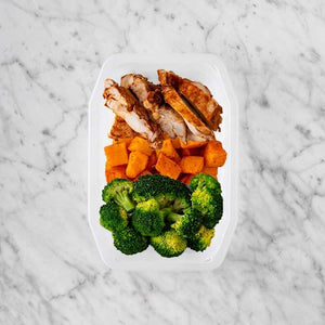 100g Chipotle Chicken Thigh 150g Rosemary Baked Sweet Potato 150g Broccoli