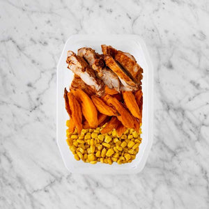 100g Chipotle Chicken Thigh 150g Sweet Potato Fries 250g Corn