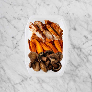 100g Chipotle Chicken Thigh 150g Sweet Potato Fries 50g Mushrooms