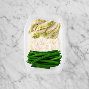 100g Garlic Herb Chicken Breast 150g Basmati Rice 200g Green Beans