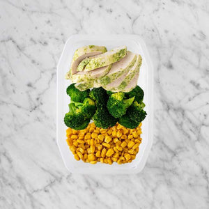 100g Garlic Herb Chicken Breast 50g Broccoli 250g Corn