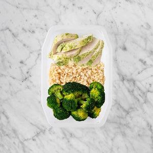 100g Garlic Herb Chicken Breast 150g Brown Rice 200g Broccoli