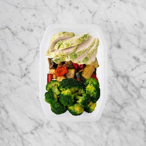 100g Garlic Herb Chicken Breast 50g Char Veg 200g Broccoli