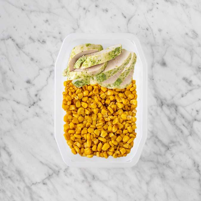 100g Garlic Herb Chicken Breast 50g Corn 50g Corn