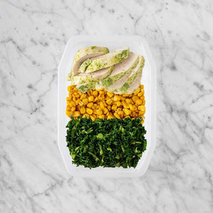 100g Garlic Herb Chicken Breast 50g Corn 100g Kale