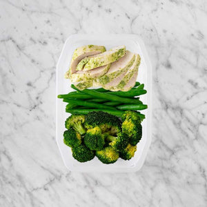 100g Garlic Herb Chicken Breast 150g Green Beans 200g Broccoli