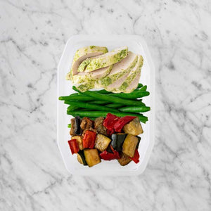 100g Garlic Herb Chicken Breast 50g Green Beans 250g Char Veg