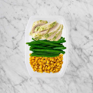 100g Garlic Herb Chicken Breast 50g Green Beans 150g Corn
