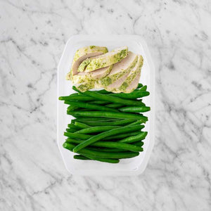 100g Garlic Herb Chicken Breast 50g Green Beans 100g Green Beans