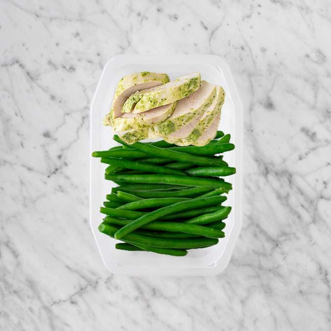 100g Garlic Herb Chicken Breast 50g Green Beans 150g Green Beans