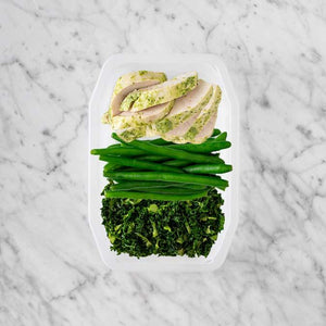 100g Garlic Herb Chicken Breast 50g Green Beans 200g Kale