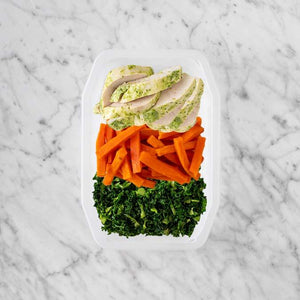 100g Garlic Herb Chicken Breast 50g Honey Baked Carrots 200g Kale