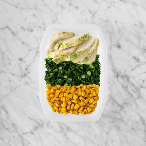 100g Garlic Herb Chicken Breast 50g Kale 100g Corn