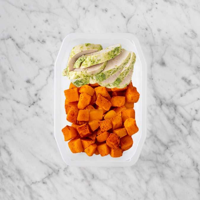 100g Garlic Herb Chicken Breast 100g Rosemary Baked Sweet Potato 250g Rosemary Baked Sweet Potato