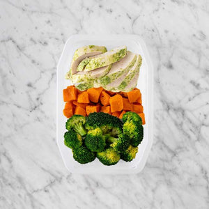 100g Garlic Herb Chicken Breast 50g Smokey Pumpkin 50g Broccoli