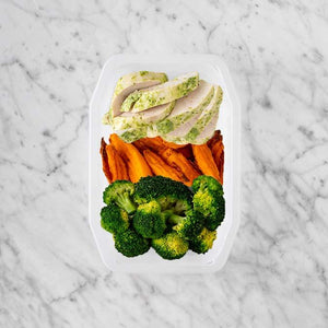 100g Garlic Herb Chicken Breast 50g Sweet Potato Fries 50g Broccoli