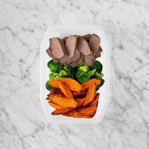 100g Mediterranean Lamb 100g Broccoli 100g Sweet Potato Fries