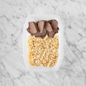 100g Mediterranean Lamb 100g Brown Rice 200g Brown Rice