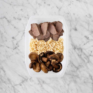 100g Mediterranean Lamb 100g Brown Rice 250g Mushrooms