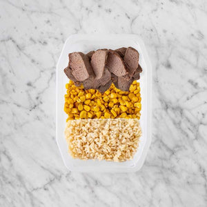 100g Mediterranean Lamb 50g Corn 250g Brown Rice