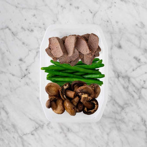 100g Mediterranean Lamb 150g Green Beans 50g Mushrooms