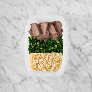 100g Mediterranean Lamb 150g Kale 150g Brown Rice