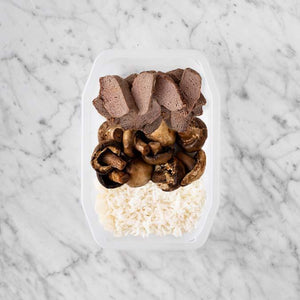100g Mediterranean Lamb 150g Mushrooms 250g Basmati Rice