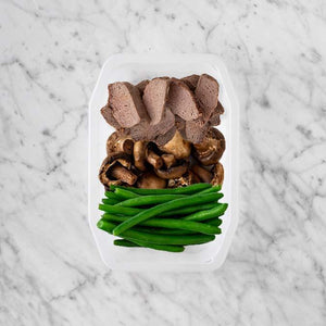 100g Mediterranean Lamb 50g Mushrooms 100g Green Beans