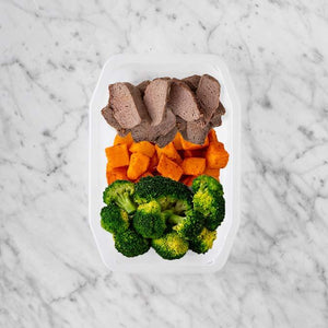 100g Mediterranean Lamb 100g Rosemary Baked Sweet Potato 100g Broccoli