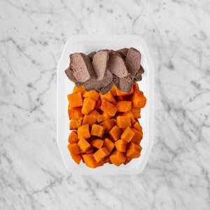 100g Mediterranean Lamb 200g Rosemary Baked Sweet Potato 250g Smokey Pumpkin