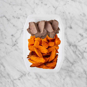 100g Mediterranean Lamb 100g Rosemary Baked Sweet Potato 100g Sweet Potato Fries