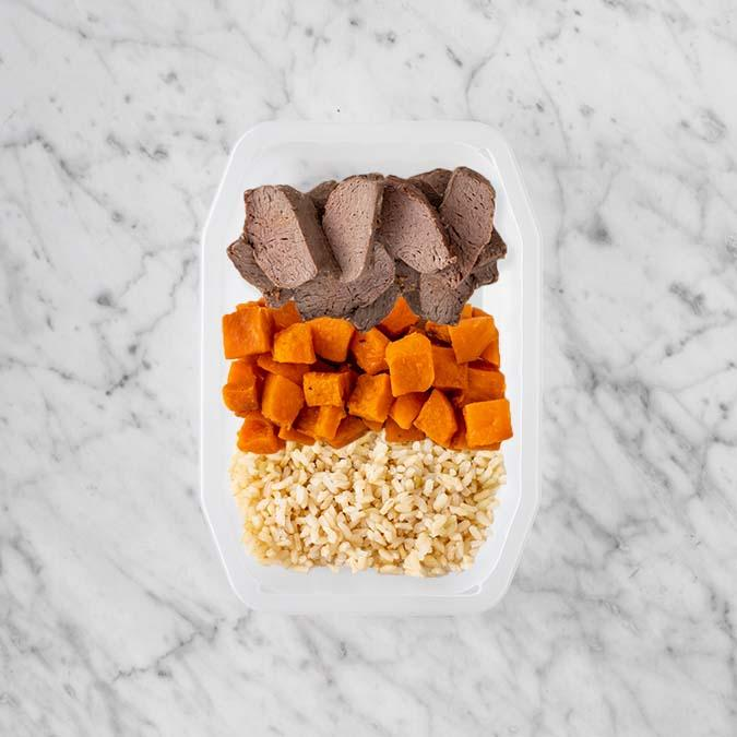 100g Mediterranean Lamb 100g Smokey Pumpkin 50g Brown Rice