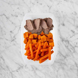 100g Mediterranean Lamb 150g Smokey Pumpkin 50g Honey Baked Carrots