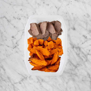 100g Mediterranean Lamb 150g Smokey Pumpkin 100g Sweet Potato Fries