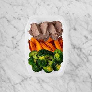 100g Mediterranean Lamb 100g Sweet Potato Fries 150g Broccoli